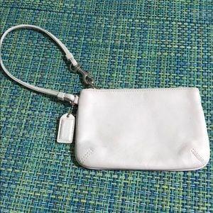 Coach White Leather Wristlet EUC